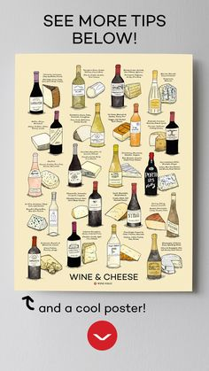 Pair funky cheeses (like Roquefort!) with sweeter wines (try a late harvest Riesling! Then, for bolder red wines, go for dry, aged cheeses. Find out more (or get the poster) in the link! Wine And Cheese Party, Wine Cheese, Wine Party Appetizers, Riesling Wine, Beer Tasting Parties, Wine Parties, Sweet White Wine, Aged Cheese, Wine Folly