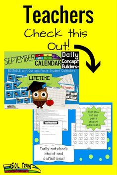 On sale as well as our entire store for a limited time! Newly Revised Back to School Editable Calendar! So many ways to use this calendar! You can use it as it is, or change the order of the words on it or you can change the words to meet your needs! This word of the day September calendar from SOL Train Learning is a great back to school activity as well as vocabulary tool that every teacher should have in his or her arsenal. So much more than a calendar, or word of the day resource,