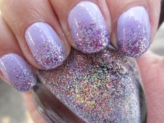 love the sparkles but would like the polish in a darker purple