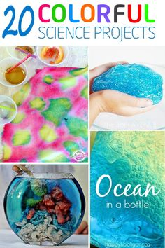 If your kids love science, they will love these fun and colorful science projects.