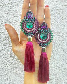 Soutache Earrings, Crochet Earrings, Drop Earrings, Handmade, Fashion, Diy Kid Jewelry, Feltro, Stud Earrings, Necklaces