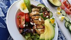 Chicken Cobb Salad and Dressing Recipe http://cleanfoodcrush.com/chicken-cobb-salad/