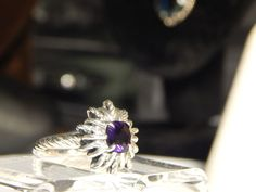 LIVE AUCTION GOING ON NOW....CHECK OUT OUR MANY OTHER LUXURY ITEMS FOR SALE & AUCTIONS.....YOU CAN ALSO MAKE US OFFERS... FFORDABLE  David Yurman Sterling Silver AMETHYST (PURPLE) Starburst Ring  #DAVIDYURMAN
