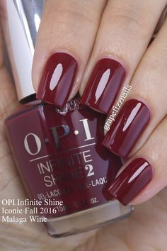 Grape Fizz Nails: OPI Infinite Shine Iconic Shades for Fall 2016 Gorgeous Nails, Pretty Nails, Wine Nails, Opi Nail Colors, Acryl Nails, Manicure Y Pedicure, Opi Nails, Nail Polishes, Nails Inspiration