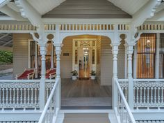 Property data for 34 Gregory Street, Clayfield, Qld Get sold price history for this house & median property prices for Clayfield, Qld 4011 Victorian Porch, Victorian Homes, Porches, Queenslander House, Australian Homes, Home Reno, House Goals, Residential Architecture, House Colors