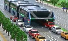 A Beijing company is gearing up for full-scale testing on a straddling bus that would allow car traffic to pass underneath a public transit option that can carry up to 1,400 passengers.