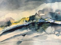 Abstract watercolors - www. Abstract Watercolor Art, Watercolor Landscape Paintings, Watercolor Sketch, Watercolor Artists, Abstract Landscape, Contemporary Landscape, Illustration Art, Watercolours, Composition