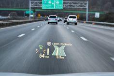 BMW head-up display (HUD)