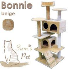 Sam`s Pet Kratzbaum Bonnie - Höhe: 130 cm - dunkelrot: Amazon.de: Haustier