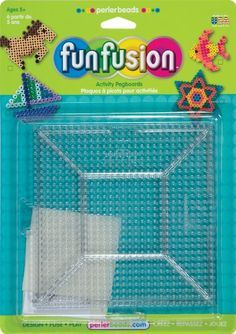 Perler Beads Large Clear Square Pegboards- 2 Count: Amazon