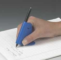 Designed to help improve the handwriting of people with arthritis, Parkinson's or other hand limitations. Triangular base balances and guides the hand as you write to smooth out shaky penmanship. Blac