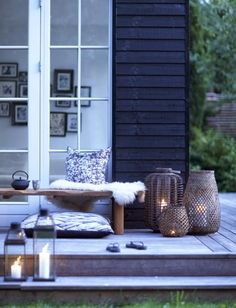 Terrasse inspiration - 20 skønne eksempler her Outdoor Rooms, Outdoor Gardens, Outdoor Living, Outdoor Decor, House Doctor, Interior Exterior, Exterior Design, Outside Living, Pergola