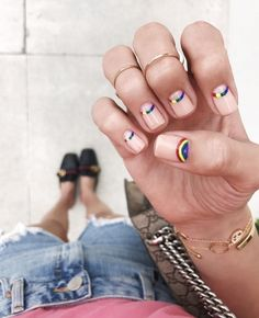 Gorgeous Nail Designs For Special Events Gorgeous Nails, Love Nails, How To Do Nails, Pretty Nails, Amazing Nails, Manicure, Diy Nails, Print No Instagram, Rainbow Nail Art