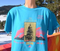 vintage 90s t-shirt DENVER governor's cup marathon road