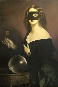An evening of clairvoyance by Stephen Mackey on Curiator, the world's biggest collaborative art collection. Paul Delvaux, People Figures, Digital Museum, Collaborative Art, Caravaggio, Black Magic, Life Drawing, Dark Art, Art Blog