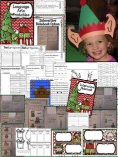 Christmas Extravaganza  This activity bundle is perfect to engage your students during the month of December. It includes book extension activities, crafts, centers, games, interactive notebook pages, a fun elf hat, language arts printables, worksheets, math activities, stations, and SO MUCH MORE! #HollieGriffithTeaching #CraftsForKids #Christmas