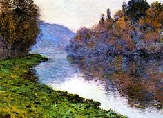 Claude Monet, 1884 / Banks of the Seine at Jeufosse; Clear Weather