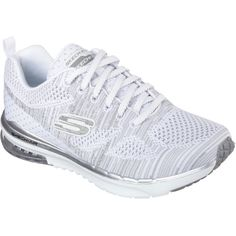 Skechers Women's Skech-Air Infinity - Stand White - Skechers ($80) ❤ liked on Polyvore featuring shoes