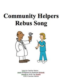 "Review profession vocabulary with this rebus song (tune of Oh Where, Oh Where Has My Little Dog Gone). Includes MP3 file (instrumental) and song lyrics with illustrations to make reading fun and easy. Professions targeted: banker, farmer, doctor, nurse, waitress, cook, singer, teacher. Use this song to help students learn to put the ""s"" on the 3rd person singular verb as needed.  ELA K-2, ESL K-8 $2.00"