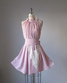 Dress / Ash roses / Pink / Vintage lace / Romantic / Dreamy / Soft / Sleeveless / Delicate / Bridesmaid