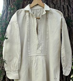 Vintage linen/hemp French smock Early 1900s by EvasCollections, $75.00