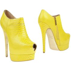 Kandee Bootie ($194) ❤ liked on Polyvore featuring shoes, boots, ankle booties, yellow, ankle boots, snake print booties, leather ankle bootie, stiletto boots and zip ankle boots
