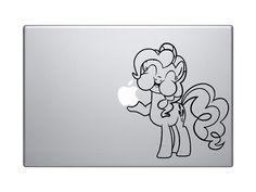 Pinkie Pie Macbook Sticker My Little Pony