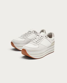 Image 1 de TENNIS COMPENSÉES de Zara Tennis Compensées, Chaussures Femmes, Chaussures  De Sport ed41f0358c19