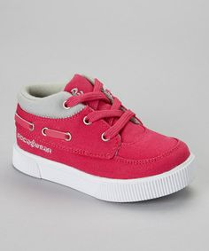 Take a look at this Pink & Gray Roc the Boat Sneaker by Rocawear on #zulily today!