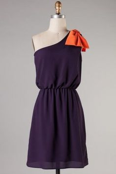 """Purple & Orange Clemson Gameday Dress"" - I want to make this in blue and gold for TU games!"