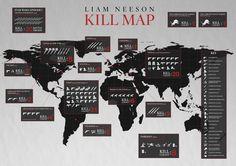 Mapa revela os assassinatos cometidos pelos personagens de Liam Neeson | Notícias | Filmow