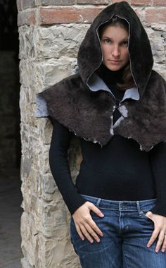 MADE TO ORDER  lamb cape cloak costume fantasy larp d&d