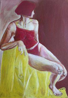 Original People Painting by Daniela Neumann Original Paintings, Original Art, Painted Leaves, Art Studies, Art For Sale, Find Art, Artwork Online, Saatchi Art, My Books