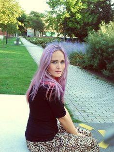 Lilac hair.