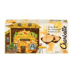 シャルロッテ <ドゥーブルショコラ テイスティマンゴー> - 食@新製品 - 『新製品』から食の今と明日を見る! Packaging Design, Japanese Products, Snacks, Painting, Desserts, Tailgate Desserts, Appetizers, Deserts, Painting Art