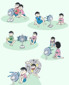 Sharing a fan with Todomatsu