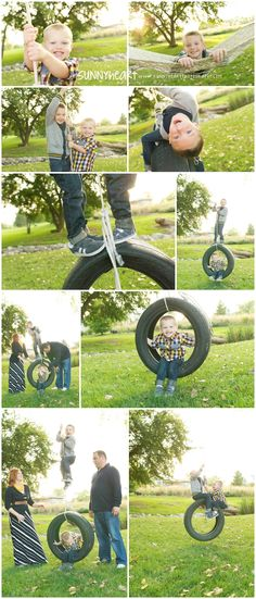 family photography session with tire swing and hammock - nebraska family and child photographer sunnyheart photography