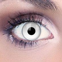 Funky Eyes White UV Contact Lenses