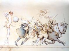BetweenMirrors.com   Alt Art + Culture Collective: Michael Parkes - Fantasy Art & Magic Realism