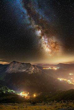 Bove Milky Way over light country by Luca Cruciani