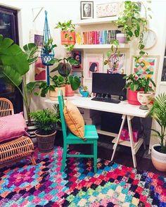Ideas For Boho Style Interior Decor Design Bohemian House, Bohemian Decor, Modern Bohemian, Deco Retro, Interior Decorating, Interior Design, Interior Plants, Home And Deco, Cheap Home Decor
