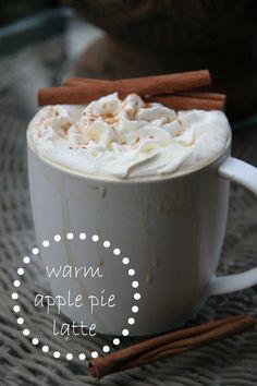 Warm Apple Pie Latte - Recipie - Sounds Delicious.