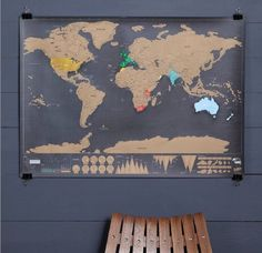 deluxe scratch off world map ' super fast delivery ' by thelittleboysroom | notonthehighstreet.com