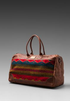 WILL LEATHER GOODS Oaxacan Duffle Bag in Brown