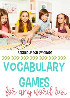 These vocabulary games are perfect to use with any word list! They're a great way for kids to learn new vocabulary words in your elementary classroom. #vocabularygames #vocabulary