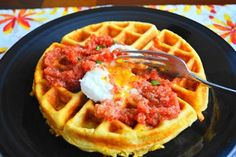 Cheddar Corn Waffles | Tasty Kitchen: A Happy Recipe Community!