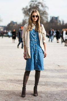 Parisienne: How to Wear a Shirt Under Your Dress