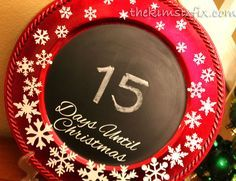 The Kim Six Fix: Chalkboard Christmas Countdown Charger (a Silhouette project)