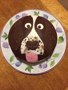 Springer spaniel birthday cake