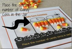 Halloween Kids Activity: Candy Corn Counting {FREE Printable} - #candycorn